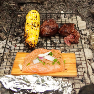 Cooking on camp fire