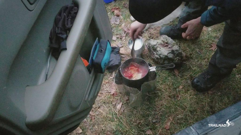 Car Camping Dinner