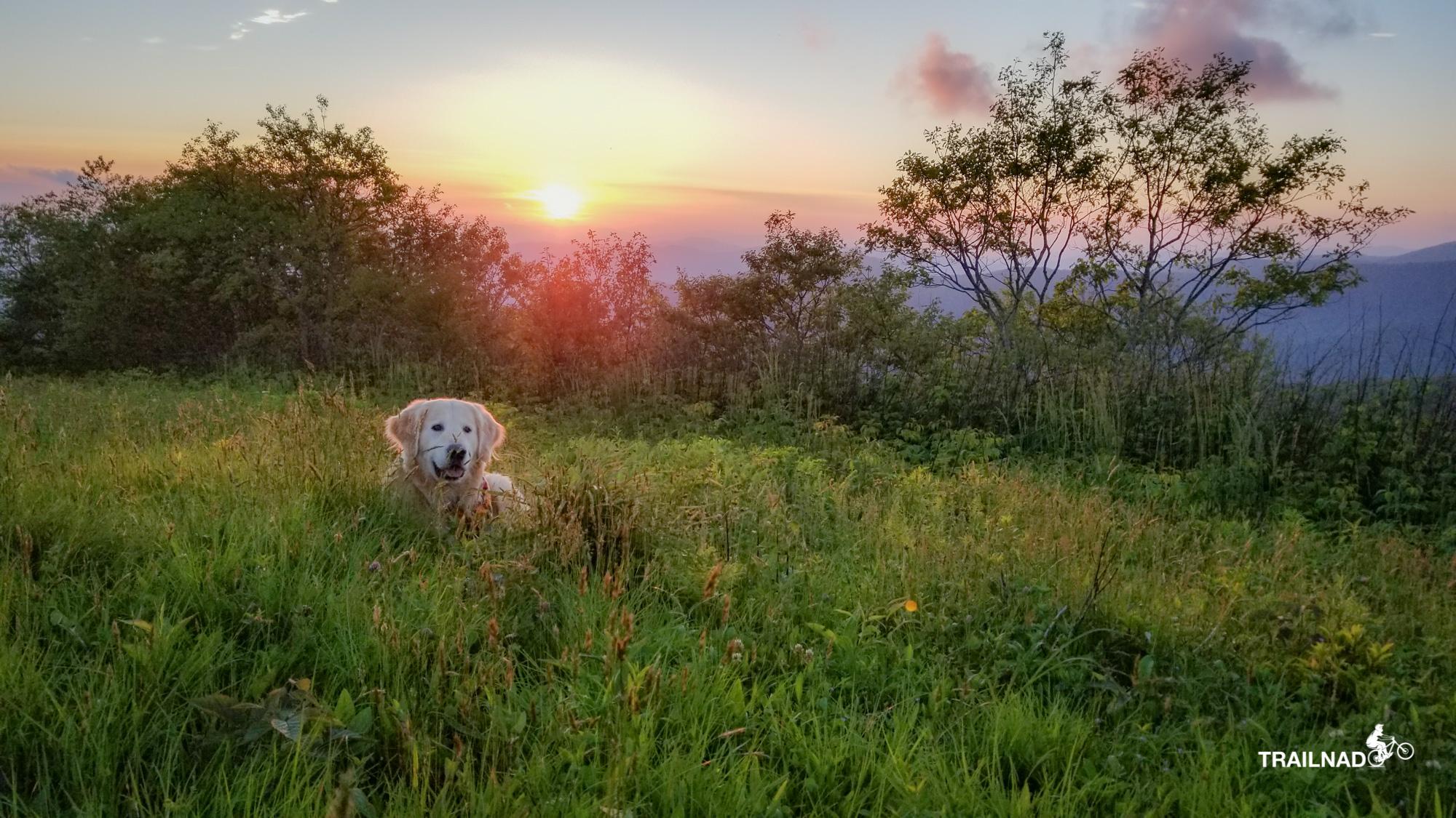Tsali with the sunset on Siler Bald