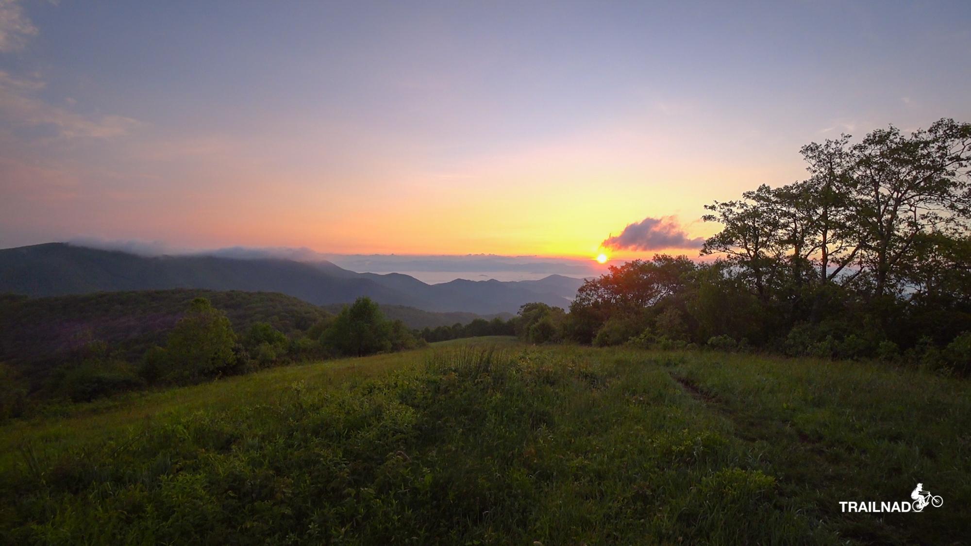 Sunrise on Siler Bald