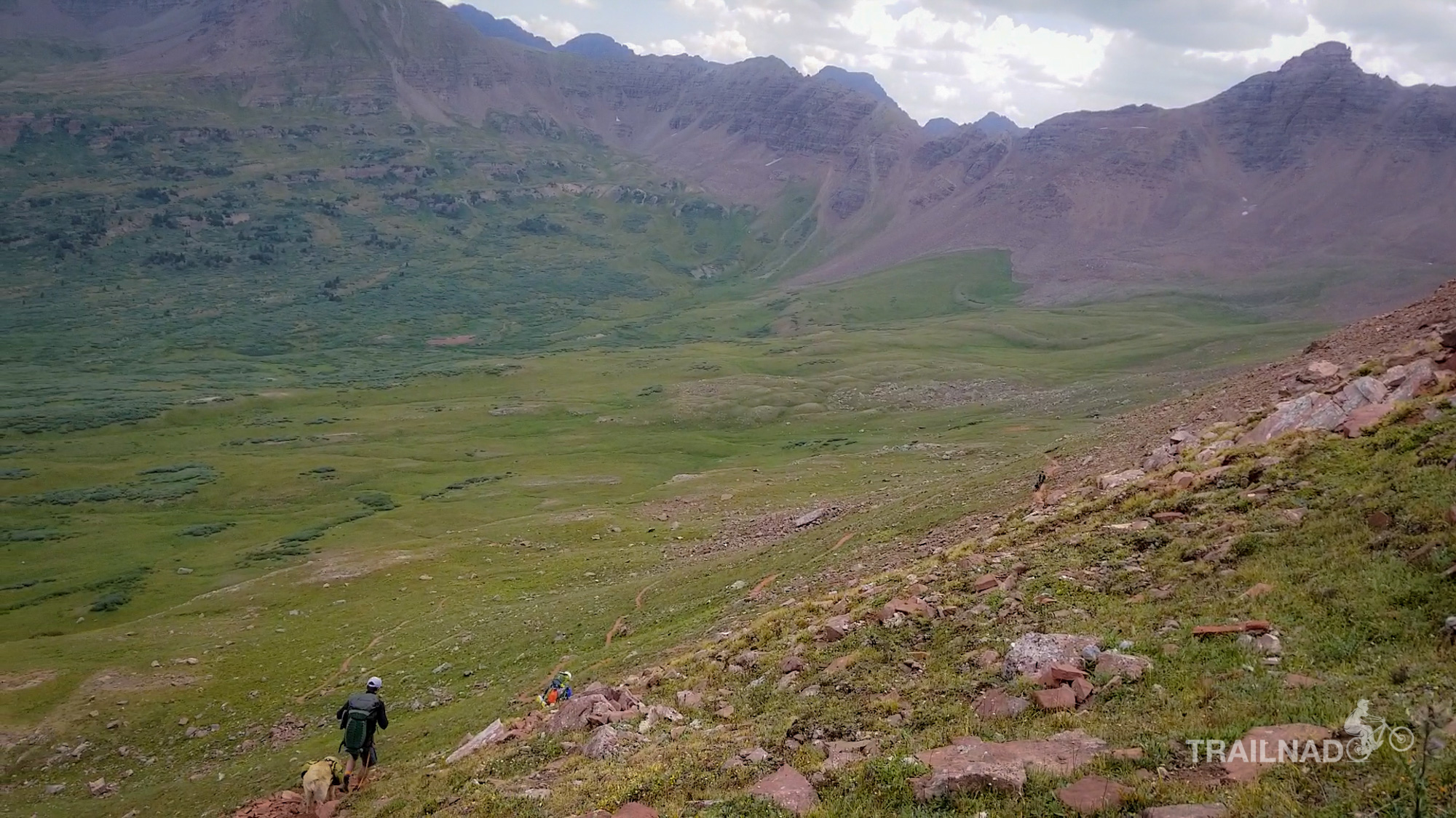 Hiking down from Frigid Air Pass