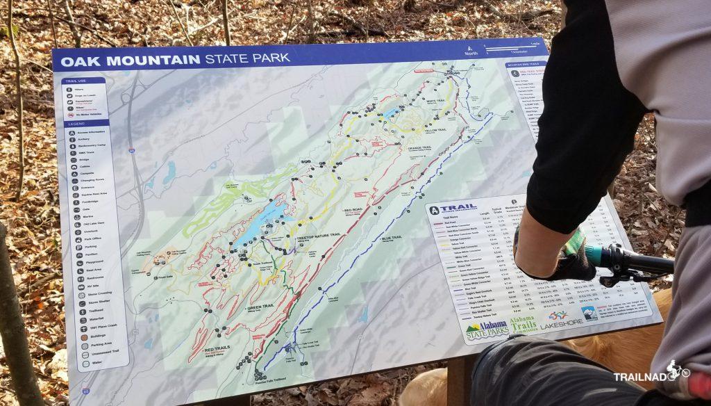 A map at North Trailhead