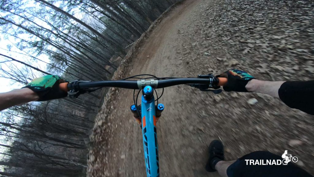 A berm on Van Michael Trail